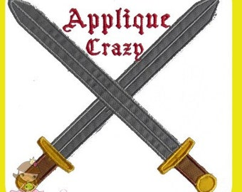 Crossed Swords Applique design
