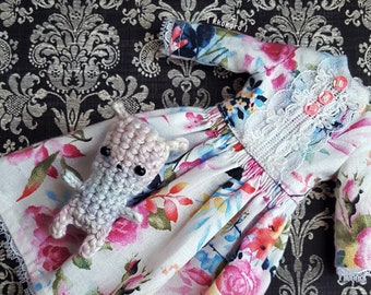 Rose / Blythe dress / Blythe outfit / Blythe clothes / Doll dress / Dress for Blythe / Blythe summer / Blythe spring / Blythe