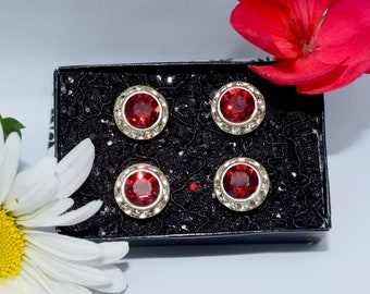 Siam Red Swarovksi Crystal Show Magnets