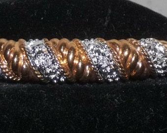 Vintage Copper Tone Sparkly Bangle Bracelet