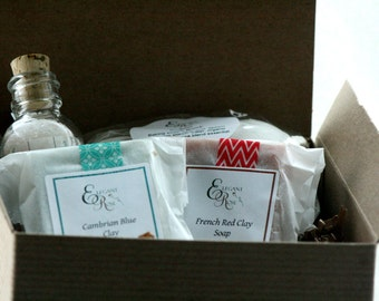 Sample Bath Gift Set -   Spa Gift Set,  Natural Bath Gift Set, Soap Gift Set