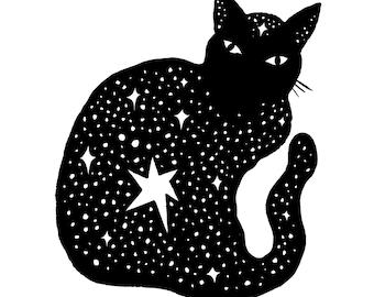 Feline Tinte feiner Kunstdruck/Poster