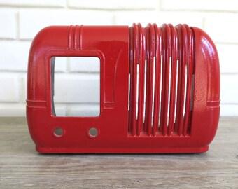 Antique Radio Case for 1947 Arvin model M 544, Vintage Bakelite Radio Shell Red Retro Radio Old Radio