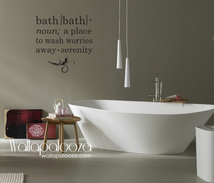 Bathroom Wall Decal Bath wall decal Bath meaning wall