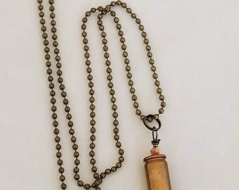 Spent shell bullet necklace
