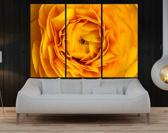 Yellow rose wall art canvas, flower canvas wall art, flower print, fine art print, large wall art home wall decor, rose canvas print 8a06