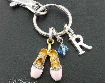 Ballet Bag Charm, Ballet KeyRing, Ballet KeyChain, Ballet Gifts, Dancer Clip Keyring, Dancer keyring, Dancer Keychain