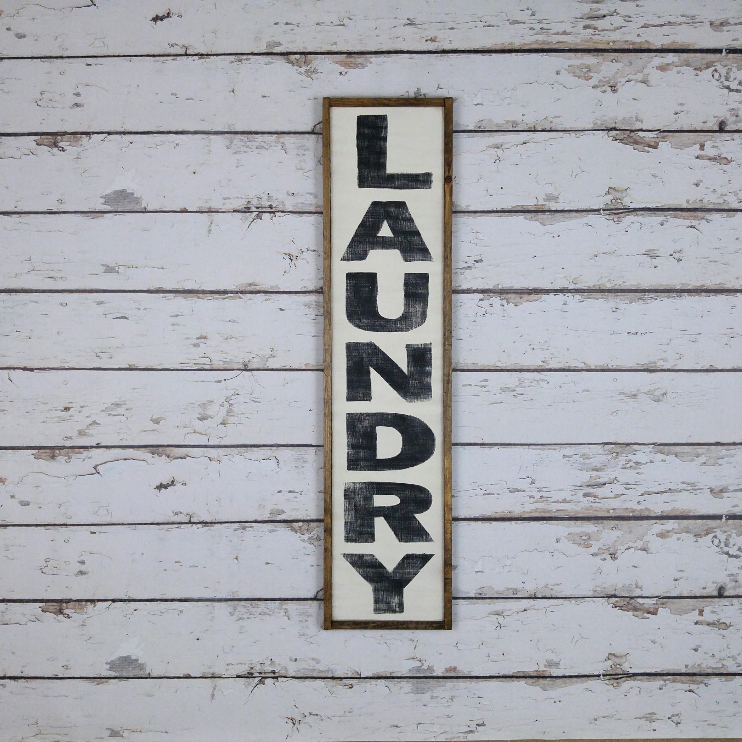 Vertical Laundry Sign Laundry Room Sign Laundry Room Decor Laundry Sign Vertical