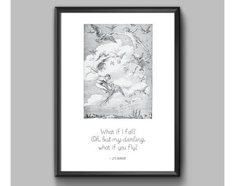 Print - Peter Pan - What If I Fall
