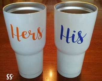 His and Hers/His/Hers/Mr and Mrs/Couples/His and Hers Decal