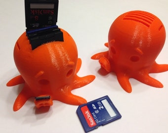 Cute Octopus SD Card Holder