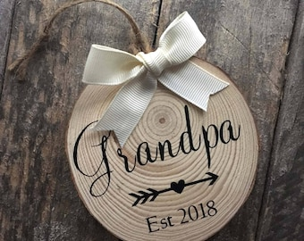 Grandpa Ornament-Baby Announcement