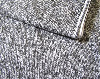Sweatshirt jersey fabric  Jersey Fabric  Grey Knit pattern flexible Jersey Knit Cotton  Jersey cotton fabric
