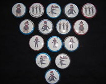 Sock Monkey Buttons - Set of 15