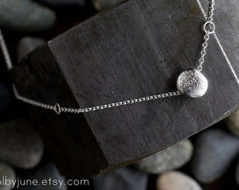 Single Pebble Necklace |  14k Gold