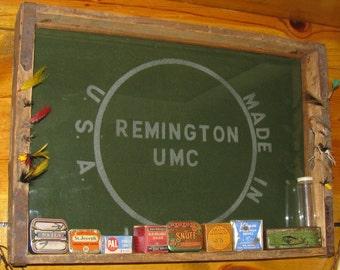 Vintage Remington UMC Knife Advertising Display Sign Tray Advertisement