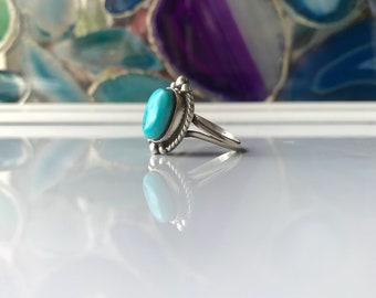 Size 6.75, turquoise and sterling silver ring