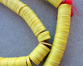 Yellow Vinyl Beads (10mm)