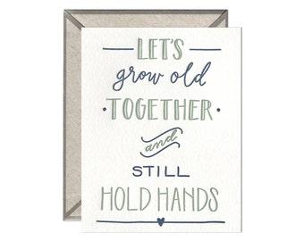 Still Hold Hands letterpress card