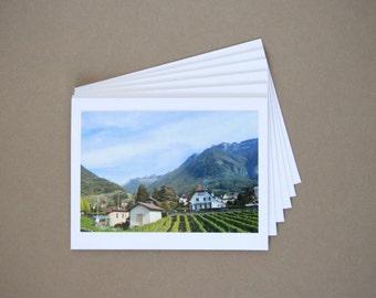 SWITZERLAND Set of 6 Blank Photo Note Cards