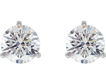 Boucles d'oreilles Boucles d'oreilles diamant en 3 broches Martinini