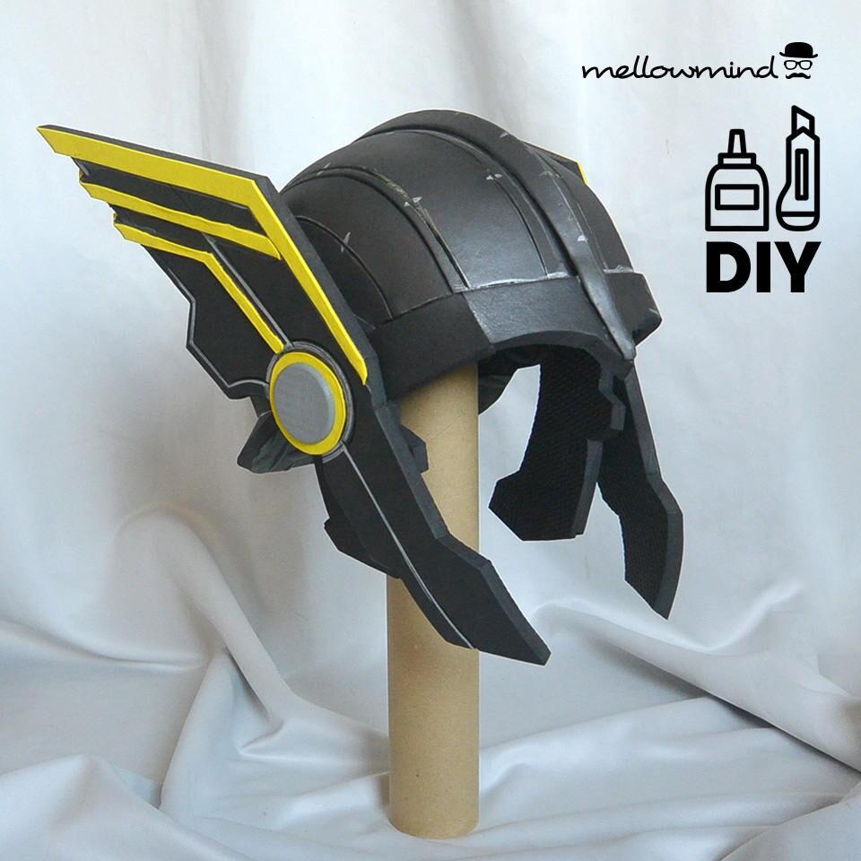 DIY Thor Ragnarok: Thor helmet templat for EVA foam de ...