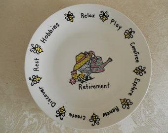 Commemorative Retirement Plate