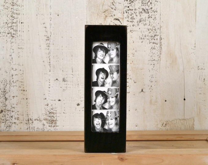 """Photo Booth Frame for 2 x 6 Picture Strip with Vintage Black Finish - 2x6"""" Photo Booth Frame - IN STOCK - Same Day Shipping"""