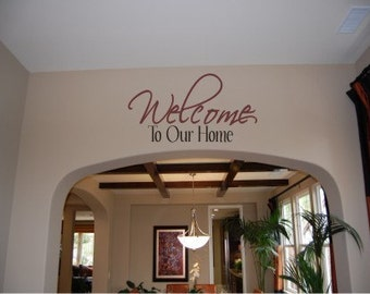 Welcome to Our Home Vinyl Wall Decal