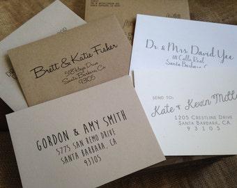 ENVELOPE Printing - Digital Calligraphy DEPOSIT - Eco-Friendly Recycled Envelopes - Guest Names - Addresses - Return Address - DIY Printable