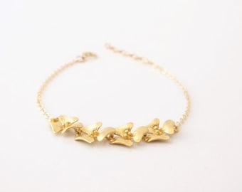 Delicate Gold Chain Bracelet -  Flower Bracelet