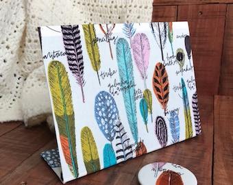 Magnet Board - Graduation Gift - Feathers Decor - Desk Accessory - Memo Board - Organizer Board - Desk Gift Idea for Her  - Memo Board