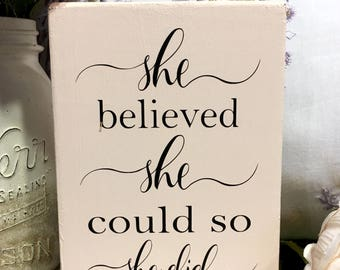 She Believed She Could So She Did, Girls Room Decor, Graduation Gift, She Believed She Could, Desk Decor, Grad Gifts For Girls, Grad Gift