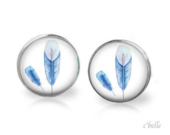 Earrings feather feather - 28