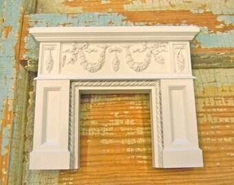 Dollhouse Miniature Fireplace Mantle - SALE!!