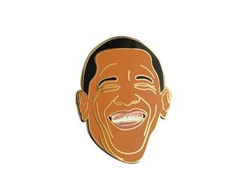 Obama Lapel Pin - Hard Enamel