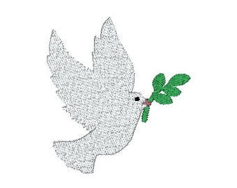 Peace Dove Christmas Machine Embroidery Design