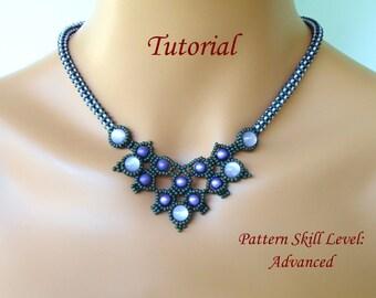 MINOTOR beaded necklace beading tutorial beadweaving pattern seed bead beadwork jewelry beadweaving tutorials beading pattern instructions
