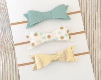 Baby headband set, Felt bow headbands, Newborn headband set, Bow headband set, Felt hair bows, Baby bow headband, Felt baby bows, Felt bows