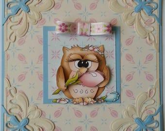 card 3d owlie's Pipa crocus