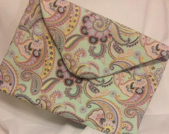 Paisley Fold Over Clutch