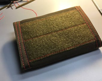 Coyote Brown and Orange Morale Patch Wallet
