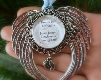 "SHOP SALE Memorial Baby / Miscarriage Ornament ""Forever in our Hearts"""