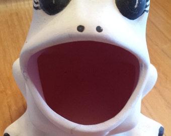Ceramic Frog Sponge Holder Bisque Unpainted Raw Unfinished
