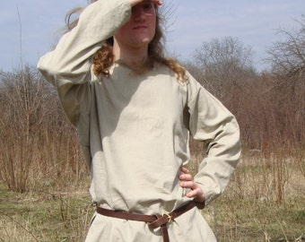 Linen shirt, Early Medieval shirt, Viking shirt longsleeves  form Birka, Historical Pattern , for Viking Reenactors, Viking Costume