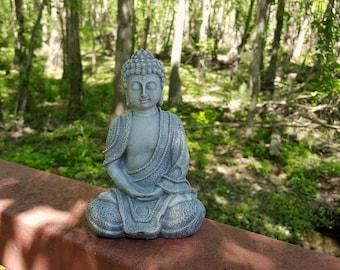 Buddha Statue, Concrete Buddha Garden Statue, Zen Garden Decor, Buddha Home  Decor,