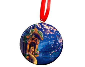 Tangled Rapunzel Window Christmas Tree Ornament