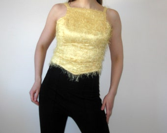 Le Kress Yellow Top blouse slevelees Blouse