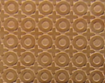 "Patterned Copper Sheet ""O Positive"" 2"" x 6"" (choose 18 thru 24ga)  (CSP30XX)"