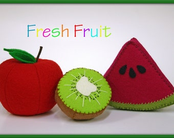 Wool Felt Play Food - Kiwi Fruit - Waldorf Inspired Pretend Kitchen or Market Accessory for Imaginative Play